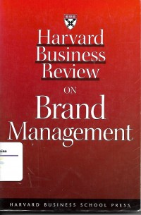 Image of Harvard Business Review on Brand Management