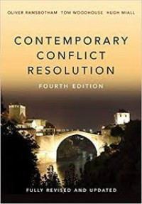 Image of Contemporary Conflict Resolution : the prevention, management and transformation of deadly conflicts